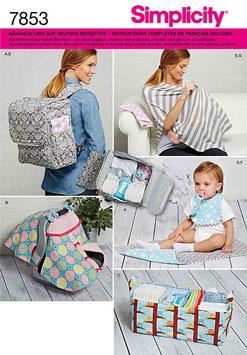 """Patron de couture Simplicity 7853 """"Accessoires bébé"""""""