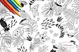 """Tissu à colorier 100 % coton certifié OEKO-TEX® """"PAYAKOLO"""""""