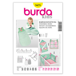 Patron ensemble bébé  BURDA 9479