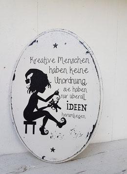Shabby Chic Schild, Kreative Menschen