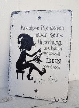 Shabby Chic Schild, Kreative Menschen... A6