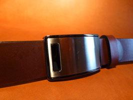 Ceinture marron foncé 35 mm (boucle n°027)