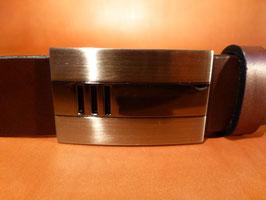 Ceinture marron foncé 35 mm (boucle n°024)