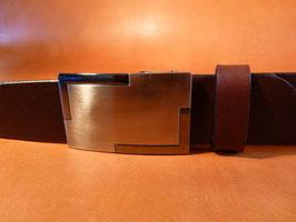 Ceinture marron foncé 35 mm (boucle n°025)