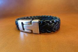 Bracelet cuir tressé 7 brins