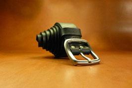 Ceinture noire 35 mm boucle en laiton (boucle n°001)
