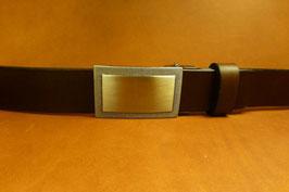 Ceinture marron foncé 30 mm (boucle n°022)