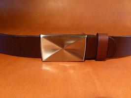 Ceinture marron foncé 35 mm (boucle n°026)