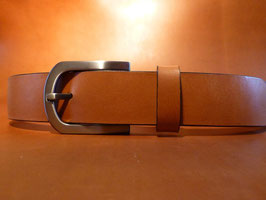 Ceinture marron 35 mm (boucle n°018)