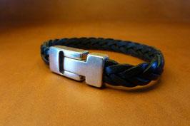 Bracelet cuir tressé 5 brins