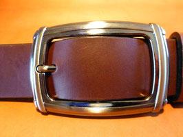 Ceinture marron foncé 35 mm (boucle n°015)