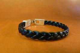 Bracelet cuir tressé 3 brins