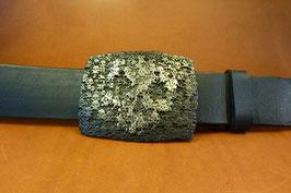 Ceinture noire 40mm à pressions