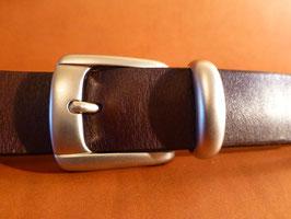 Ceinture marron foncé 30 mm (boucle n°005)