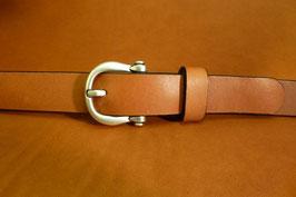 Ceinture marron 25 mm (boucle n°020)