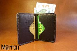 Porte-Cartes en cuir avec poche à billets/tickets
