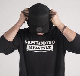 Hoodie Man Black - Supermoto Lifestyle -