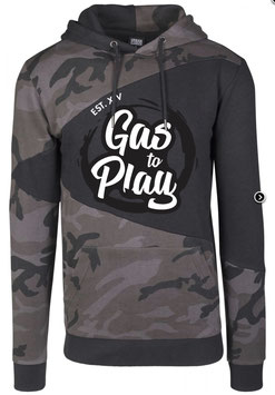 Hoodie Man Dark Camo - Gas To Play -