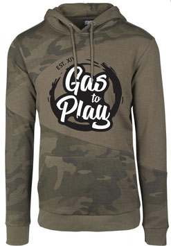 Hoodie Man Olive Camo - Gas To Play -