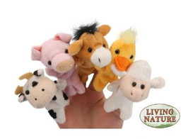 Peluches Marionnettes à Doigts Animaux de la Ferme