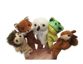 Peluches Marionnettes à doigts Animaux Sauvages