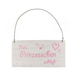"""Holzschild  """"Prinzesschen / Prinz schläft"""""""
