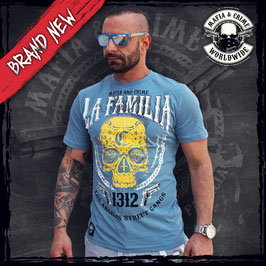"Shirt Mafia and Crime ""LA FAMILIA"" vintage navy"