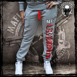 Girl Pants Mafia and Crime MC CRIMINAL - grau