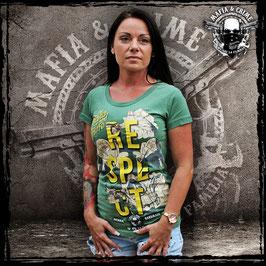 "Shirt Mafia and Crime ""RESPECT"" olivgrün"