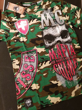 "EXCLUSIVE LIMITED SUISSE EDITION Shirt Mafia and Crime ""MC Bandana"" Grössen S-XXL"