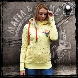 Girl Hoodie Mafia and Crime - vintage gelb