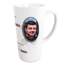 Latte Tasse incl. Druck