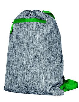 Sportbeutel 600D Polyester grey melange