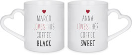 "Partnertasse ""DUO"" incl. Druck"