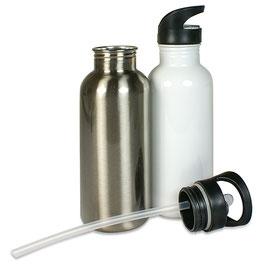 Edelstahl-Trinkflasche mit klappbarem Mundstück, unberdruckt