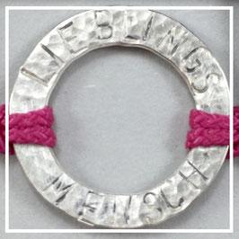 Armband >>LIEBLINGSMENSCH<< fuchsia