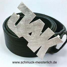 Initialen Gürtel 3 Buchstaben in 925/- Silber