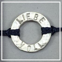 Armband >>LIEBEVOLL<< navy