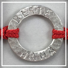 Armband >>BESTE MAMA<< imperial red