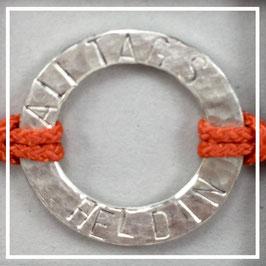 Armband >>ALLTAGSHELDIN<< solar orange