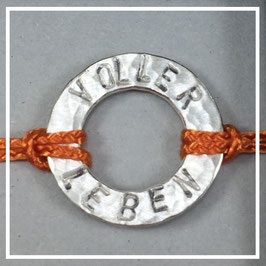 Armband >>VOLLER LEBEN<< burnt orange
