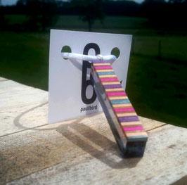 Acetat-Skateboard Kette und Ohrringe