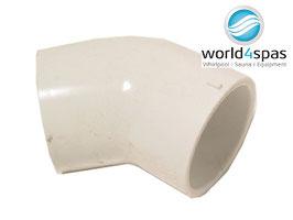 Imperial Size PVC Muffe Elbow --- 45 Grad, für Whirlpools --- verschiedene Größen