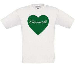 Steiramadl KINDER Herz T-Shirt - Steiermark
