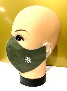 Mund-Nasen-Schutzmaske Baumwolle NINJA GRÜN STEIERMARK PANTHER