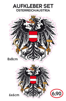 Aufkleber Set ÖSTERREICH - Austria