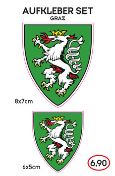 Aufkleber Set GRAZ - Steiermark