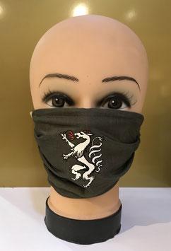 Mund-Nasen-Schutzmaske Baumwolle OLIVGRÜN STEIERMARK PANTHER