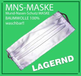 MNS Maske - Mund-Nasen-Schutzmaske 100% Baumwolle waschbar