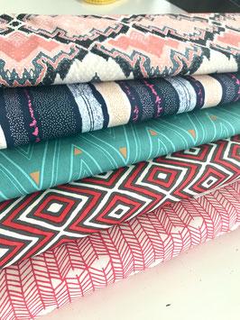 0,5m grafische Stoffe, 100% Baumwolle, 110cm breit
